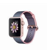 Apple Watch Series 2 38mm Rose Gold Aluminum Case with Light Pink/Midnight Blue Woven Nylon (MNP02)
