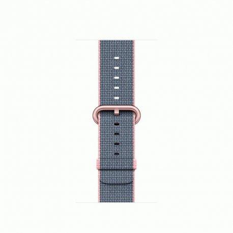 Apple Watch Series 2 38mm Rose Gold Aluminum Case with Light Pink/Midnight Blue Woven Nylon (MNP02)