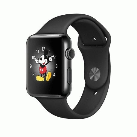 Apple Watch Series 2 42mm Space Black Stainless Steel Case with Black Sport Band (MP4A2)