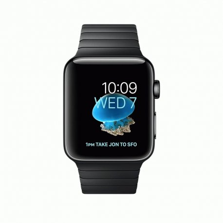 Apple Watch Series 2 42mm Space Black Stainless Steel Case with Space Black Link Bracelet (MNQ02)
