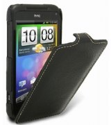 Кожаный чехол Melkco Flip (JT) для HTC Incredible S S710e Black