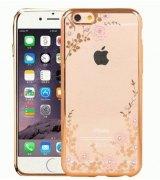 TPU накладка Gold Flowers для iPhone 6 | 6s