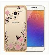 TPU накладка Gold Flowers для Meizu Pro 6