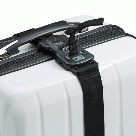 Защитный ремень для багажа с кодовым замком и весами Elari Smart Travel Belt Black (ELSBBLK)