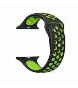 Спортивный ремешок для Apple Watch 42mm Black-Green
