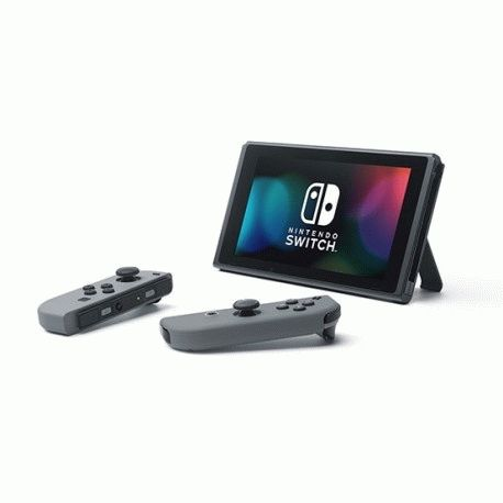 Nintendo Switch with Gray Joy‑Con Controllers
