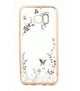 TPU накладка Gold Flowers для Samsung Galaxy S7