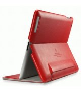 Чехол для Apple iPad 2 SGP Leather Case Leinwand Series Red
