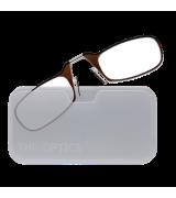 Очки для чтения Thinoptics +2.50 Коричневые + Чехол универсальный Прозрачный (2.5BRWUP)