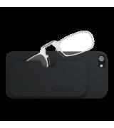 Очки для чтения Thinoptics +2.50 Прозрачные + Чехол iPhone 5/5S Черный (2.5CBI5)
