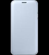 Чехол Flip Wallet для Samsung Galaxy J7 (2017) J730 Blue (EF-WJ730CLEGRU)