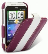 Кожаный чехол Melkco Flip (JT) Limited Edition для HTC Wildfire S A510e (Purple/White)