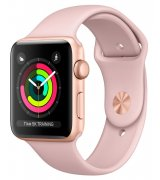 Apple Watch Series 3 42mm (GPS) Gold Aluminum Case with Pink Sand Sport Band (MQL22)
