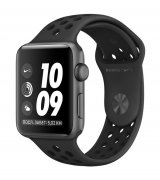 Apple Watch Series 3 38mm (GPS) Space Gray Case with Pure Anthracite/Black Nike Sport Band (MQKY2)