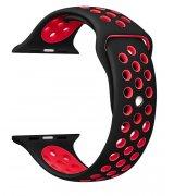 Спортивный ремешок для Apple Watch 42mm Black-Red