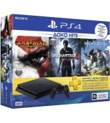 Sony PlayStation 4 Slim 500GB (CUH-2108A) + Horizon Zero Dawn + Uncharted 4: Путь вора + God of War 3 + PSPlus 3 месяца