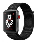 Apple Watch Series 3 Nike+ 42mm (GPS+LTE) Space Gray Aluminum Case with Black/Pure Platinum Nike Sport Loop (MQLF2)