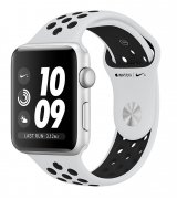 Apple Watch Series 3 42mm (GPS) Silver Aluminum Case with Pure Platinum/Black Nike Sport Band (MQL32)
