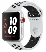 Apple Watch Series 3 Nike+ 38mm (GPS+LTE) Silver Aluminum Case with Pure Platinum/Black Nike Sport Band (MQL52)