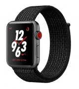 Apple Watch Series 3 Nike+ 38mm (GPS+LTE) Space Gray Aluminum Case with Black/Pure Platinum Nike Sport Loop (MQL82)
