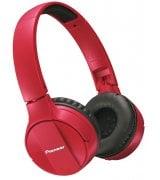 Pioneer SE-MJ553BT Wireless Stereo Headphones (SE-MJ553BT-R) Red