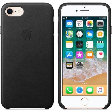 Чехол Apple iPhone X Leather Case Black (MQTD2ZM/A)