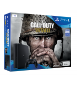 Sony PlayStation 4 Slim 1TB (CUH-2108B) + Call of Duty: WWII - Акция: DualShock 4 v2 в подарок!
