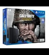 Sony PlayStation 4 Slim 1TB (CUH-2108B) + Call of Duty: WWII - Акция: DualShock 4 v2 в подарок!
