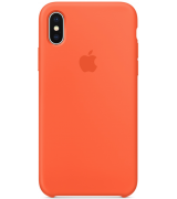 Чехол Apple iPhone X Silicone Case Spicy Orange (MR6F2)