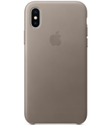 Чехол Apple iPhone X Leather Case Taupe (MQT92)