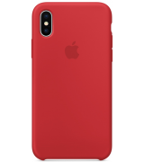 Чехол Apple iPhone X Silicone Case (Product) Red (MQT52)
