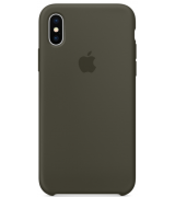 Чехол Apple iPhone X Silicone Case Dark Olive (MR522)