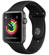Apple Watch Series 3 42mm (GPS) Space Gray Aluminum Case with Black Sport Band (MQL12LL/A)