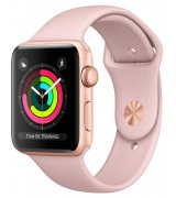 Apple Watch Series 3 42mm (GPS) Gold Aluminum Case with Pink Sand Sport Band (MQL22LL/A)