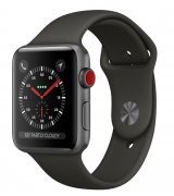 Apple Watch Series 3 42mm (GPS+LTE) Space Gray Aluminum Case with Gray Sport Band (MQK22)
