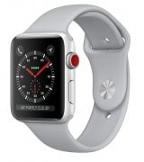 Apple Watch Series 3 42mm (GPS+LTE) Silver Aluminum Case with Fog Sport Band (MQK12)