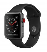 Apple Watch Series 3 38mm (GPS+LTE) Space Gray Aluminum Case with Black Sport Band (MQJP2)