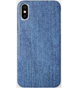 Чехол Jeans для iPhone X Blue