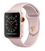 Apple Watch Series 3 38mm (GPS+LTE) Gold Aluminum Case with Pink Sand Sport Band (MQJQ2)
