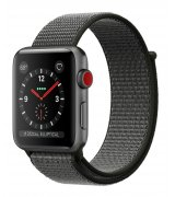 Apple Watch Series 3 42mm (GPS+LTE) Space Gray Aluminum Case with Dark Olive Sport Loop (MQK62)