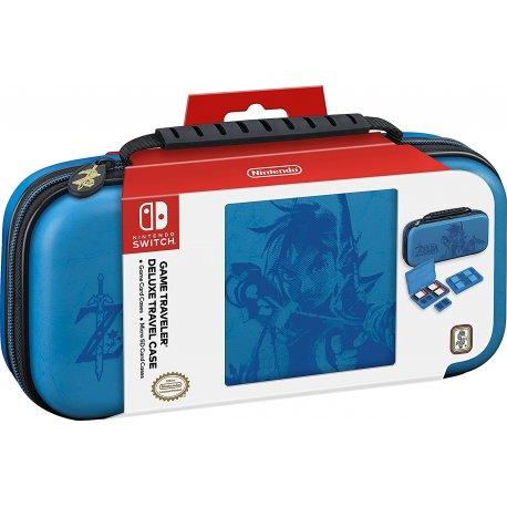 Чехол Deluxe Travel Case The Legend of Zelda: Breath of the Wild для Nintendo Switch Blue