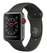 Apple Watch Series 3 42mm (GPS+LTE) Space Gray Aluminum Case with Gray Sport Band (MR2X2)