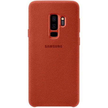 Накладка Alcantara Cover для Samsung Galaxy S9 Plus Red (EF-XG965AREGRU)