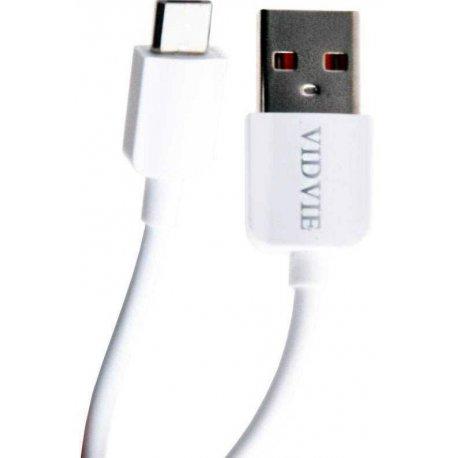 Кабель Vidvie CB412 Micro USB Cable 2m White