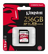 Карта памяти Kingston SDXC 256GB Canvas React Class 10 UHS-I U3 V30 (SDR/256GB