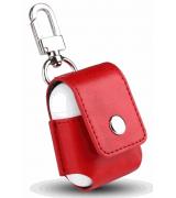 Чехол Leather Case для Apple AirPods Red