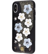 Накладка Luna Aristo Star Flowers для Apple iPhone X Black