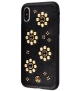 Накладка Luna Aristo Pearl Flowers для Apple iPhone X Black