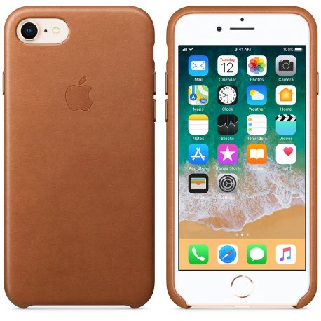 Чехол Apple iPhone 8 Leather Case Saddle Brown (MQH72)