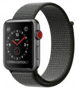 Apple Watch Series 3 38mm (GPS+LTE) Space Grey Aluminium Case with Dark Olive Sport Loop (MQJT2)
